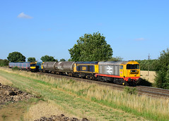 20132 20905 20107 20314 6E21 old dalby (asfordby test centre) to peterborough yard passing langham junction (I.Wright Photography over 2 million views thanks) Tags: 20132 20905 20107 20314 6e21 old dalby asfordby test centre peterborough yard passing langham junction hnrc choppers moose class20 s stock drags kba barrier tanks rutland gbrf gb railfreight