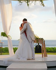 Yusuf & Saira's Wedding (yohanawu) Tags: weddingkiss firstkiss kiss happy wedding marriagevow love inlove joy beautiful beach sunset seaside seaview bali seminyak villa indonesia 2016 party bride groom
