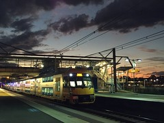 "Waratah at Penrith (Dean ""O305"" Jones) Tags: sydney trains waratah a40 penrith station nsw sunset"