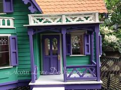 IMG_0414 (AcornLaneDollhouses) Tags: westville greenleaf dollhouse exterior green shingled siding porch handcrafted gingerbreadtrim