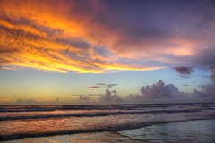 NSB Sunrise (8/28/2016) (TaranRampersad) Tags: newsmyrnabeach beach sunrise sunset hdr ocean seaside outside oceanside reflection color light refraction waves