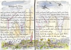 Beleaguered Cities (Hornbeam Arts) Tags: poem poetry lucas sketch weeds sketchbook