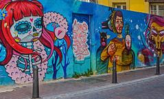 Painted Wall ( Valencian back-street) Valencia  (Canon PowerShot G1X) (1 of 1) (markdbaynham) Tags: wall art graffiti colour design local valencia street urban metropolis city spain spainish es espana espanol valencian canon canonites powershot g1x