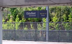 Ebbsfleet Intl Station Sign on the Eurostar Arrival Platform. (DesiroDan) Tags: highspeed1 ebbsfleetinternationalstation eurostar southeasternhighspeed railwaystationsintheuk