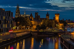 Beautiful Colonia (Renate Bomm) Tags: 2016 366 canoneos6d ef24105mmf4l renatebomm kln cologne colonia nrw blauestunde bluehour photokina2016 imzollhafen severinsbrcke blue sky golden ngc flickrunitedaward