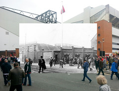 Flagpole Corner, Anfield, 1912 in 2016 (Keithjones84) Tags: liverpool liverpoolfc anfield anfieldroad merseyside thenandnow kop lfc rephotography football stadium