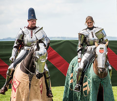 CONTESTANTS IN MEDIEVAL JOUST, BOLSOVER CASTLE, DERBYSHIRE_DSC_0978_LR_2.0 (Roger Perriss) Tags: bolsovercastle joust medieval d750 horses knights riders contestants armour