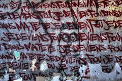 Je deviens fou ! (urban requiem) Tags: jedeviensfou tag graf graffiti drapeau urbex urban exploration france abandonn abandoned verlaten verlassen lost old decay derelict hdr 600d 816 sigma usine fabrik factory centrale oxy