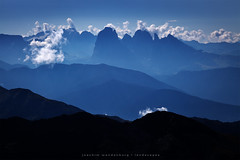 Silhouettes (wende60) Tags: mountains clouds cumulus dolomites alps italy