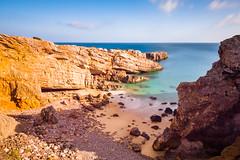 Private Beach (dat_sim) Tags: sunset sea sky seascape portugal rock canon landscape coast rocks sonnenuntergang lagos algarve fusion hdr piedade 50d efs1022mmf3545usm pontadapiedade canonefs10223545usm exposurefusion