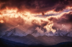 Mountains (Theophilos) Tags: sky snow mountains nature clouds crete