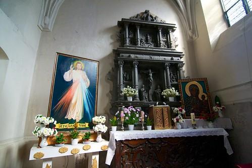 Renesansowy ołtarz (1588) w kaplicy Maltzanów w kościele św. Jana Ewangelisty w Paczkowie