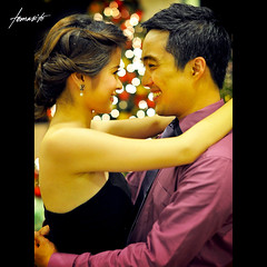 Valentine's Day (Tomasito.!) Tags: christmas woman man love beautiful hearts dance nikon couple dress heart bokeh handsome jewelry valentine valentines inlove d700