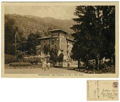 Roncegno Terme, villa Waiz, 1928 (Ecomuseo Valsugana | Croxarie) Tags: villa 1928 cartolina roncegno waiz sittoni roncegnoterme croxarie villawaiz giuseppesittoni