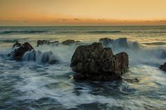 Incoming Tide (danieljsharp) Tags: ocean sunset sea seascape nature water coast nikon rocks waves horizon plymouth spray devon