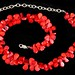 1064. Contemporary Sterling and Coral Necklace