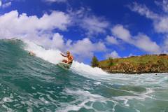 working the turn (bluewavechris) Tags: ocean slash sea sun water youth fun hawaii surf ride action surfer board style wave maui teen surfboard thebay swell kazuma honoluabay kinoshita honolua