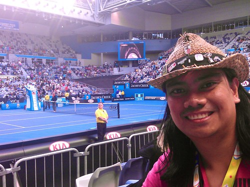 inside HiSense Arena for Berdych vs Melzer