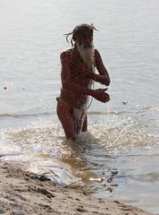 Sadhu Bathing (RajivSinha Photography) Tags: