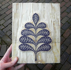 """FROND"" Woodcut, Key Block (Tugboat Printshop) Tags: tree nature print botanical leaf carving frond printmaking woodcut woodcarving woodblock woodblockprint woodcutprint leafprint tugboatprintshop woodcutprintmaking woodcutinprogress frondwoodcut"