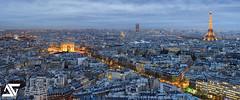 Paris @ sunset (A.G. Photographe) Tags: paris france tower french nikon louvre arc triomphe eiffel ag nikkor montparnasse 70200 hdr parisian anto d800 toureffeil xiii invalide parisien antoxiii agphotographe