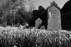 (and the moon rose) Tags: blackandwhite church grave rural churchyard oxfordshire villlage stbotolph swyncombe