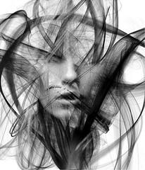 (elenakulikova) Tags: abstract mystery processing mysterious dreamy blackandwhiteportraits beautiul elenakulikova sergioalbiac generativeprocessing genrativeportraits
