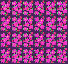 Many Daisies Many Roses (randubnick) Tags: pink roses art daisies whimsy pattern digitalart painter brushes iphone brushesapp painter12