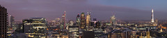 London Panorama (david.bank (www.david-bank.com)) Tags: city uk england panorama london canon twilight skyscrapers dusk barbican british bluehour shard gherkin swissre 30stmaryaxe herontower davidbank