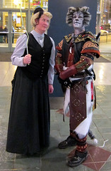 Susan and Razar (Lucky--Kat) Tags: cat costume feline cosplay susan convention armour terrypratchett luckycat emeraldcitycomicon khajiit hogfather skyrim