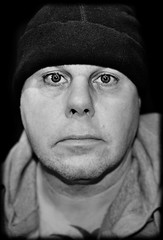 Portrait. (CWhatPhotos) Tags: pictures shadow portrait white man black male eye monochrome hat self canon pose dark that lens photography eos prime mono eyes artist foto shadows view image artistic pics head no f14 manly picture sigma pic images have photographs photograph fotos emotional which contain selfie dut shadowed 30mm selfies 450d selfees selfee cwhatphotos