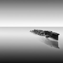 a slow death, 2009 (p r i m e r) Tags: ocean seascape broken monochrome pier long exposure pacific aslowdeath