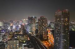 Tokyo at night (Matthias Harbers) Tags: city light sky japan skyline night photoshop tokyo licht nikon nacht worldtradecenter illumination stadt labs dxo turm hdr hochhaus topaz lampen 18200mm 3xp photomatix grossstadt elumination hochhaeuser fehrsehturm d7000