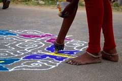 5 (akila venkat) Tags: street art colours patterns bangalore rangoli indianart