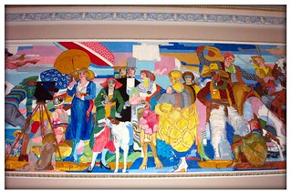 Cleveland OH ~ State Theatre ~ Mural ~ 1920s