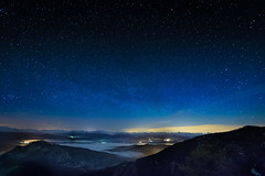 Cold night (Denis Degioanni) Tags: sky france night way stars landscape evening long exposure space astro clear astronomy milky montain milkyway