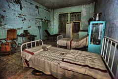 Alcatraz Hospital (Ken Yuel Photography) Tags: sanfrancisco california wheelchair alcatraz therock prisons bedpan alcatrazprison hospitalward weatheredandworn digitalagent kenyuel alcatrazhospital hosptialbed