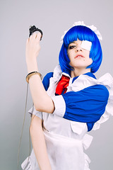 IMG_3577 (teladi) Tags: portrait anime girl canon cosplay 7d bluehair handcuffs eyepatch 24105 ikkitousen ryomoushimei 一騎当千 russiancosplay