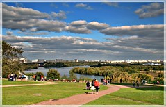 (Serge 585) Tags: city autumn sky people panorama russia moscow september          me2youphotographylevel1