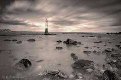 Heading In (RTA Photography) Tags: longexposure sea tower beach water sepia rocks beacon shaldon vle gradfilter 10stopnd lightroom4