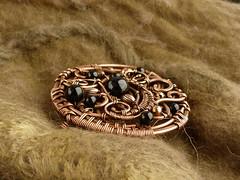 Midnight (Oksana Truhan) Tags: black agate wire brooch jewelry ursula