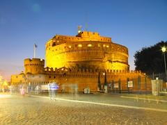 Castel Sant'Angelo (arosadocel) Tags: roma angel atardecer noche san italia tramonto ciudad angelo castillo catel