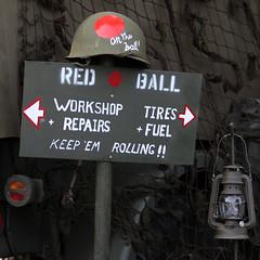 RED BALL (Leo Reynolds) Tags: sign canon eos iso100 100mm f45 1940s 7d 0008sec hpexif leol30random xleol30x xxx2013xxx