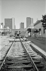 C Street, 1980 (SDMTS) Tags: construction downtown sandiego metro trolley transit lightrail 1980s lrt mts sandiegotrolley cstreet metropolitantransitsystem