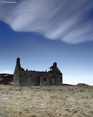 Bleak house (SwaloPhoto) Tags: roof winter chimney abandoned clouds canon scotland decay perthshire ruin picture croft styles lonely editor bleakhouse a924 badyo