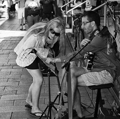 Whats the name of that song (Nikonsnapper) Tags: street musician music monochrome 50mm fan cool nikon perth uncool nikkor cool3 cool4 d300s uncool2 uncool8 uncool3 uncool4 uncool5 uncool6 uncool7 cool2forsharpy