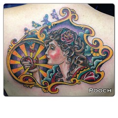 #girlhead #traditional #mucha #tattoo #artnouveau