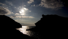 Dark Harbour (Fadangalini1) Tags: sunset sea silhouette cornwall harbour dusk boscastle