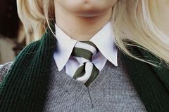 Slytherin Princess (Sandra Guilln) Tags: scarf sweater uniform tie pale blonde slytherin