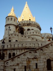 Budapest Fishermen's bastion (Germn Vogel) Tags: tower wall architecture europe hungary terrace capital budapest landmark bastion easteurope magyarorszag fishermensbastion